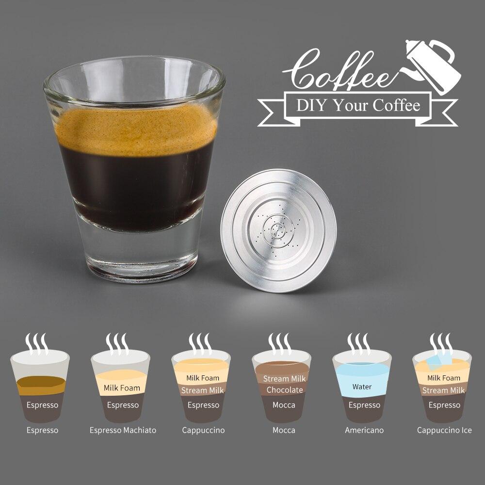 Refillable נירוסטה קפה כמוסה Pod עבור נספרסו עבור L'Or ריסטה LM8012 מכונת קפה מסנני LOR מכונה