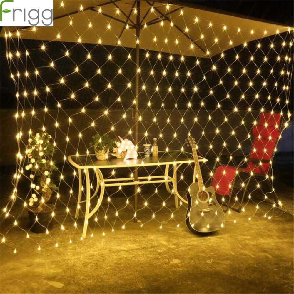 220 v led rede malha string luz rústico guirlanda de casamento decoração do casamento do vintage festa de aniversário decoração para casa fonte festa festiva