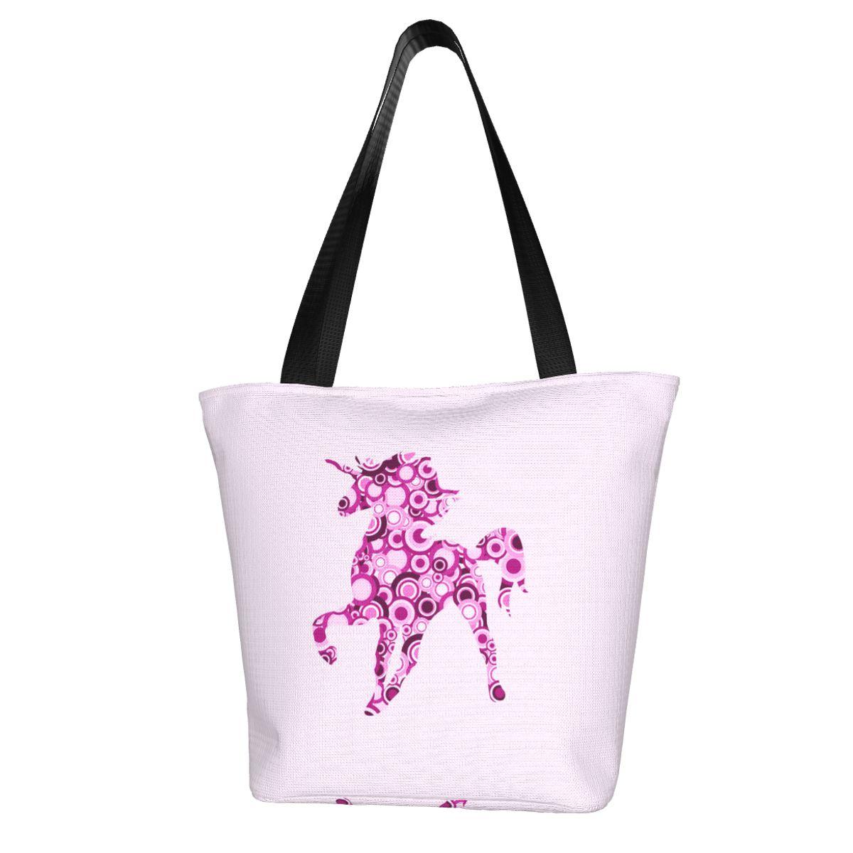 Сумка для покупок в виде единорога, деловая женская сумка, стильные сумки из полиэстера оптом