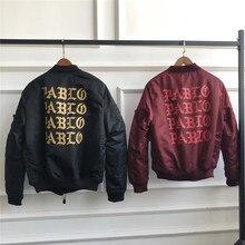 I Feel Like Pablo Kanye Bomber Jacket Men Women Casual MA-1 Embroidery Force Pilot Jacket I Feel Like Pablo Military Jackets