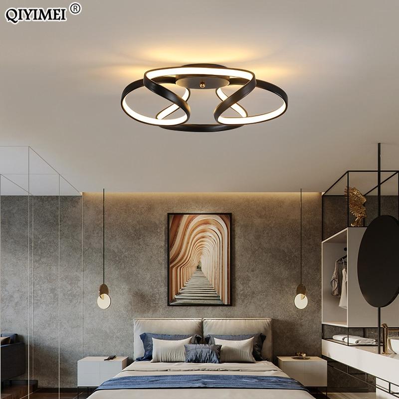 Современные светодиодные люстры для гостиной, кабинета, спальни, фойе, украшения, золотой, черный цвет, освещение для помещений, Luminaria AC85-260V