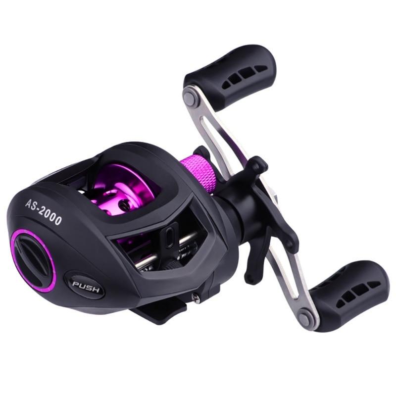 De alta velocidad o mano goteando de señuelo de pesca carrete línea ronda señuelos pistola calamar carretes con rueda nuevo