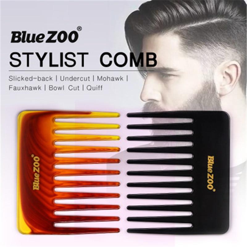 Peine Profesional de peluquería para hombre, peine de pelo con espalda cortada,...