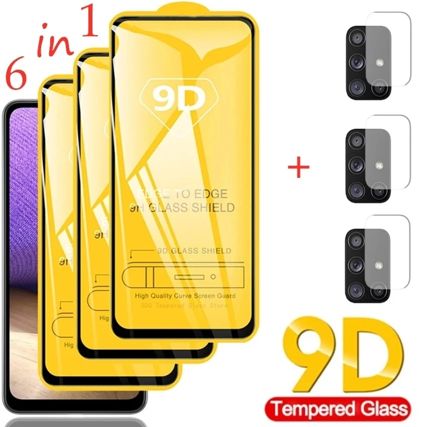 9D Tempered Glass for Samsung Galaxy A51 A52 A71 A21S A72 A32 Screen Protectors for Samsung S21 Plus A50 M51 M31 A12 S20 Fe Lens