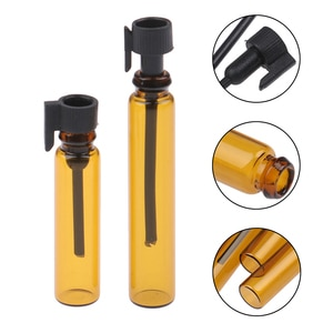 1/2Ml Empty Small Glass Perfume Sample Mini Vial Dipper Bottles Tubes Container 10Pcs