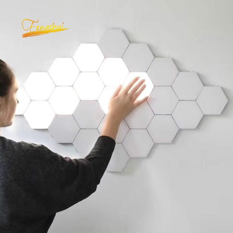Modern LED Night Light Quantum Lamp Touch Sensitive Lighting Magnetic Hexagons Corridor Decor Night Lamp Bedroom Bedside Lamp enlarge
