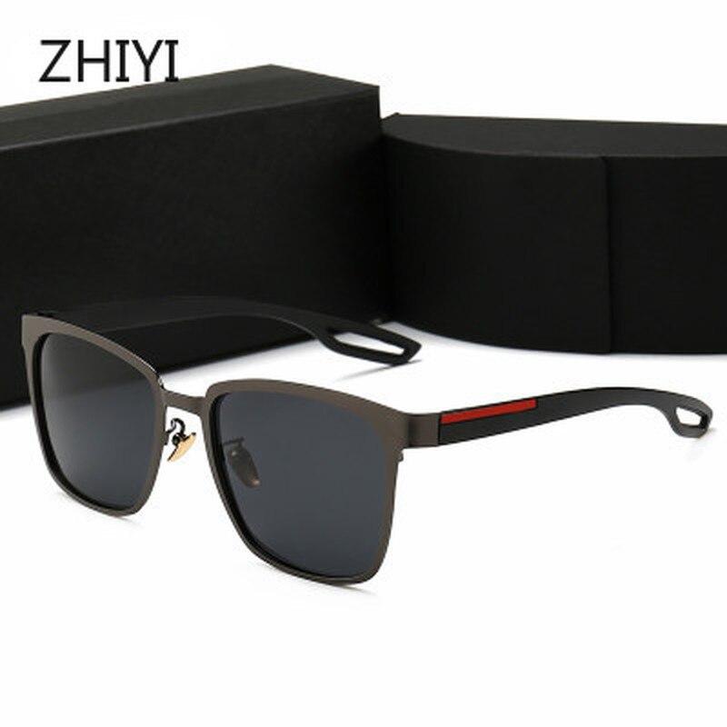 Gafas de sol clásicas polarizadas ZHIYI 2020 para hombre, HD, antideslumbrante, Anti-UV, gafas para conducir, gafas de sol de diseño de marca, gafas de sol afas