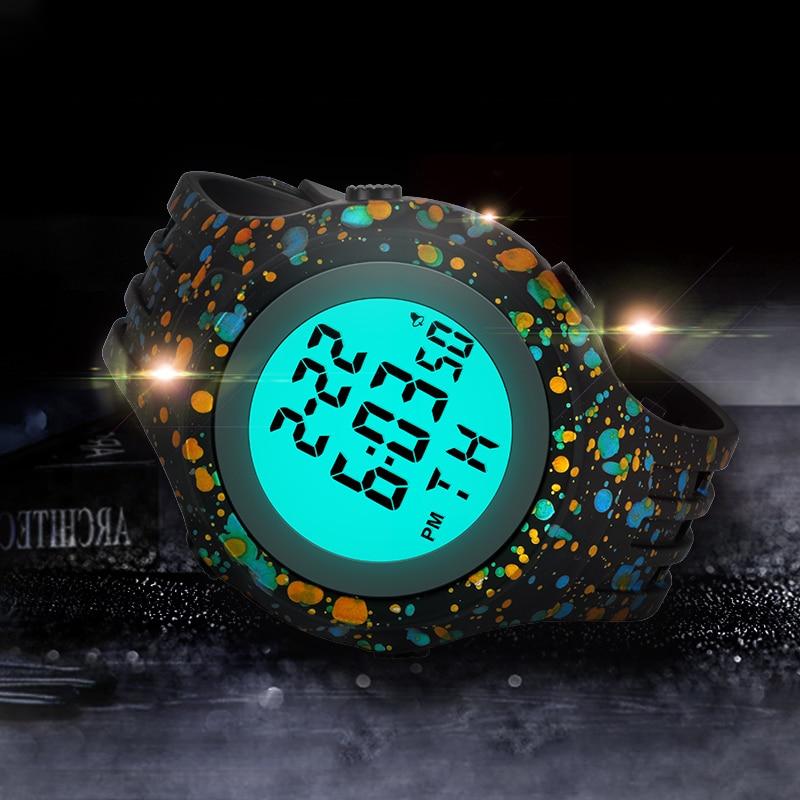 IBSO New Fashion 2021 Outdoor Sport Children Digital Watch Men Swimming Multifunction Watches Alarm Clock Chrono Waterproof