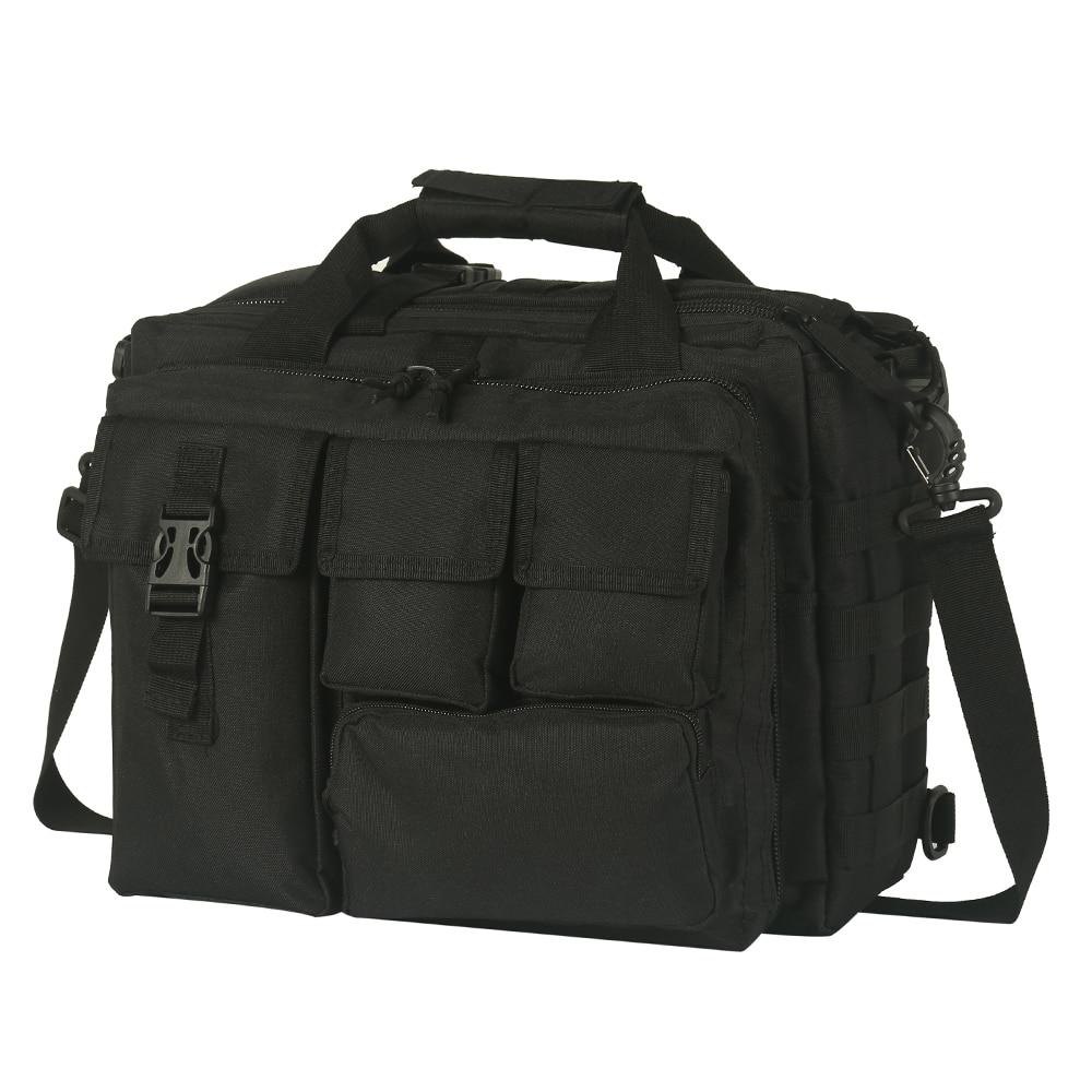 Men Multifunction Laptop Bag Waterproof Outdoor Tactical Shoulder Computer Handbag for Camping Messenger Shoulder Briefcase