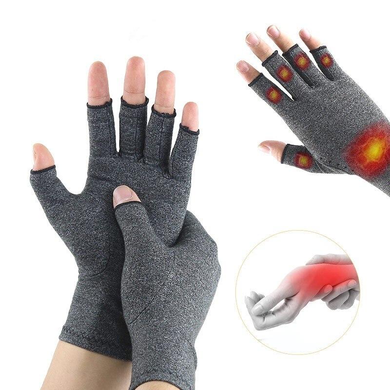 1 par Luvas Artrite Corrector Compressão Dos Homens Das Mulheres de Algodão Apoio para o Punho Brace Alívio Da Dor Articular Mão Terapia Pulseira