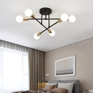 LED Nordic simple ceiling lamp wrought iron creative personality home room restaurant study children homeowner bedroom lamp