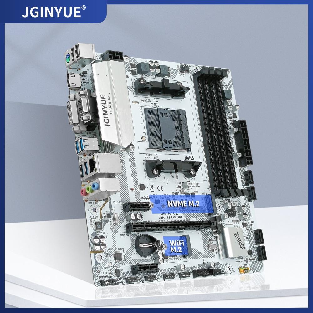 JINGYUE AM4 اللوحة AMD1331-pin دعم سطح المكتب DDR4 ذاكرة عشوائية R3/R5/R7 CPU SATA3.0 M.2 NVEM WiFi NGFF E-ATX AM4 التيتانيوم