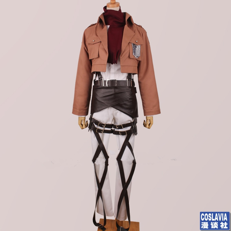 زي تنكري لشخصية تيتان ميكاسا ، زي ماسكوت للتدريب ، زي موحد ، ملابس لعب الأدوار المخصصة