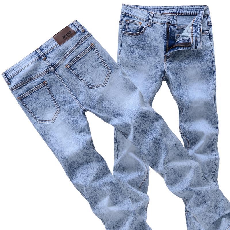 2021 модные CW мужские зауженные джинсы серый/синий деним джинсы новые модные мужские брюки-карандаш узкие мужские джинсы, узкие длинные джинс...