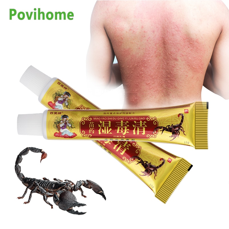 15g Antipruritic Anti-Itching Cream Dermatitis Psoriasis Treatment Eczema Ointment Chinese Herbal Medical Plaster Skin Care