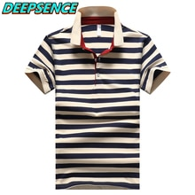 2021 Summer New Men Srtiped Short Polo Shirt 95%Cotton Smart Casual Breathable Button Fashion Slim S