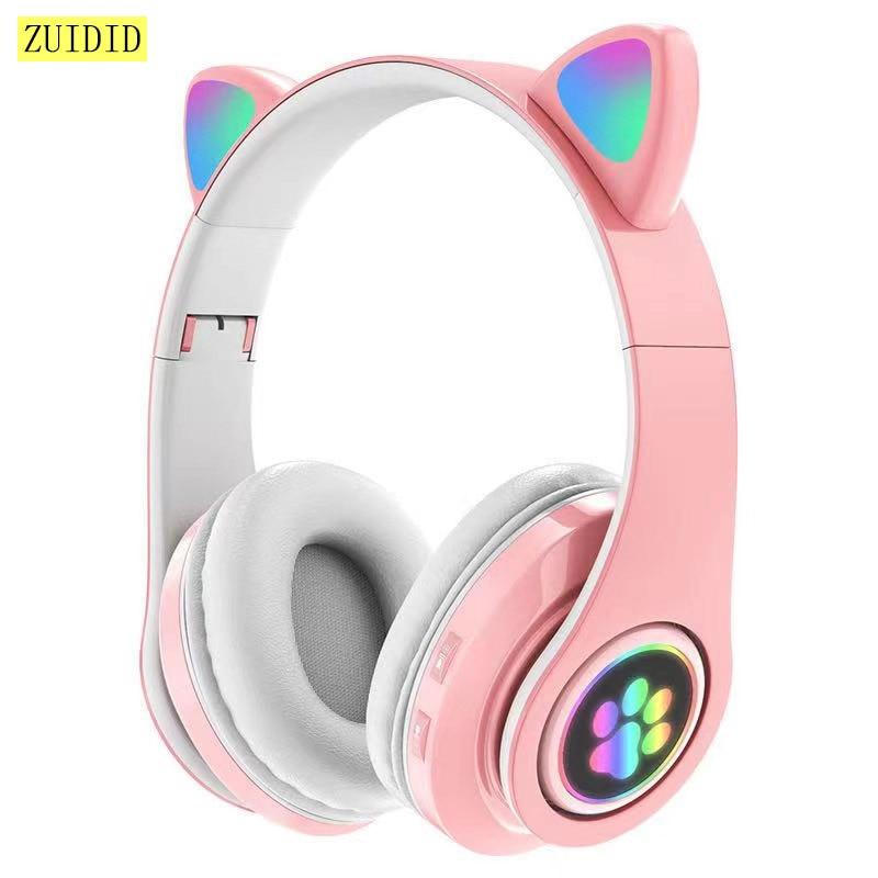 Gato elegante oreja auricular inalámbrico Bluetooth 5,0 auriculares bajo ruido cancelación de...