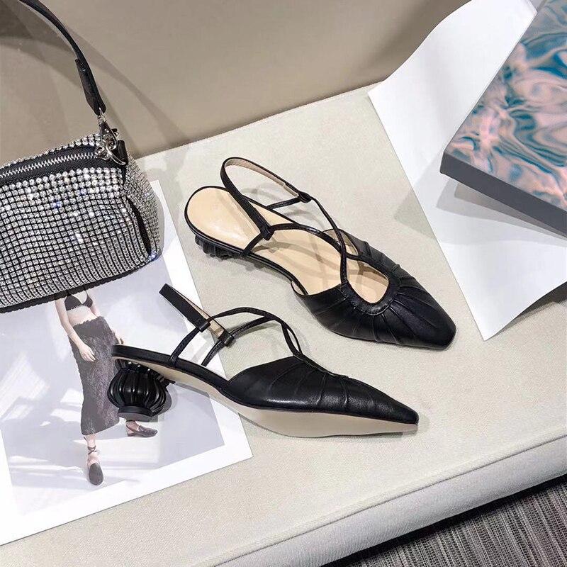 Sexy Womens Shoes High Quality Sheepskin Heels Female  Designer Brand Pumps Casual Fashion Ladies Sandal 2021 New