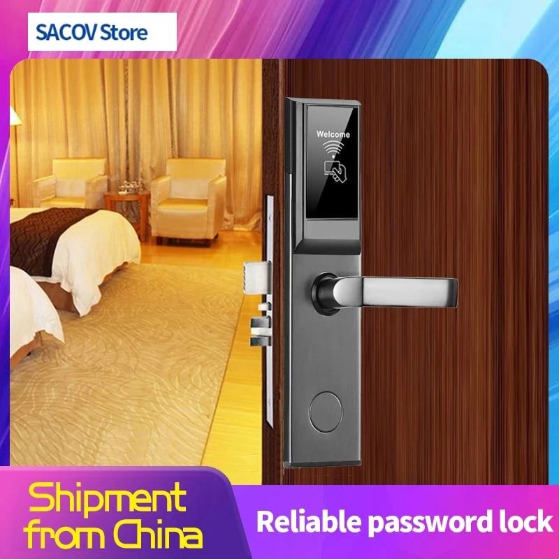 Интеллектуальный Дверной замок, замок для гостиницы, умный замок с rfid, электронный дверной замок для гостиницы, система RFID, бесплатный прогр...