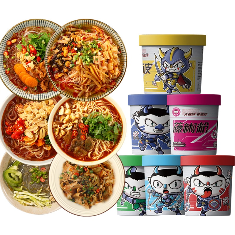 Mixed vermicelli, instant noodles, net red hot and sour total 6 barrels
