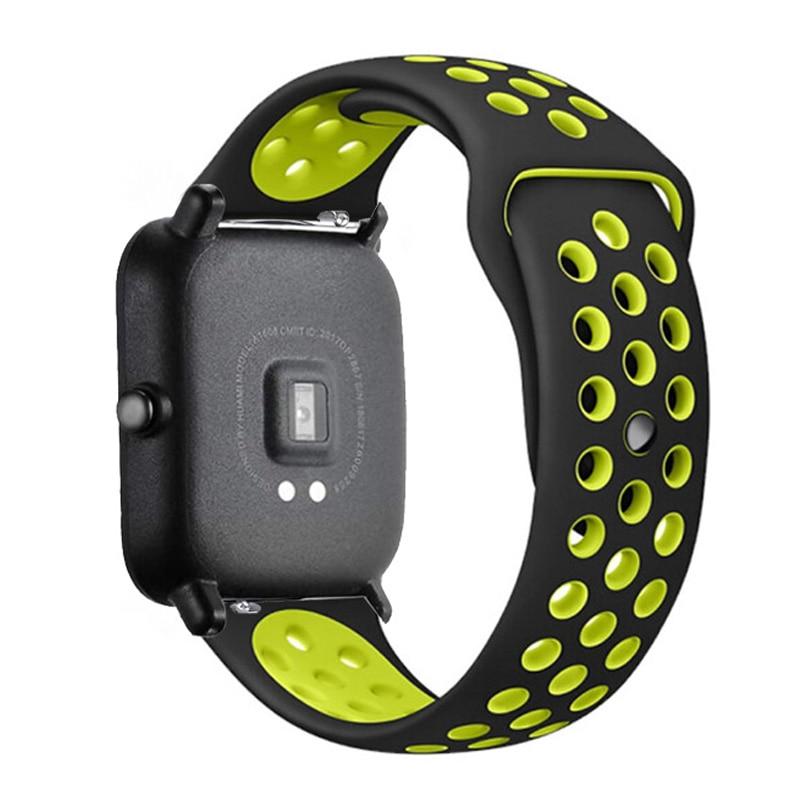20mm/22mm Silicone band For Amazfit GTS/2/2e/GTS2 Mini/GTR 42mm/47mm/GTR2/2e/stratos 2/3 Sport Watch Bracelet Amazfit bip strap