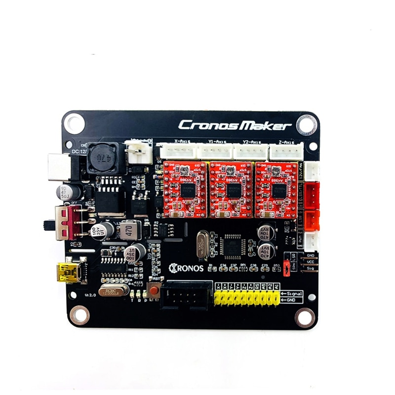 DIY GRBL 3 axis motherboard v2.0 para escritorio CNC router dibujo máquina de grabado láser plotter con línea USB