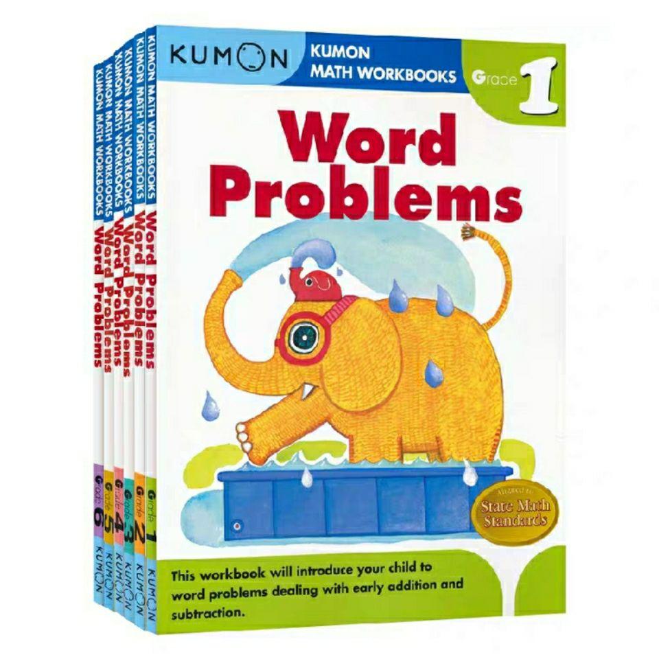 Kumon Math Workbooks English Workbook of Kumon Math Application Questions for Grade 1-6