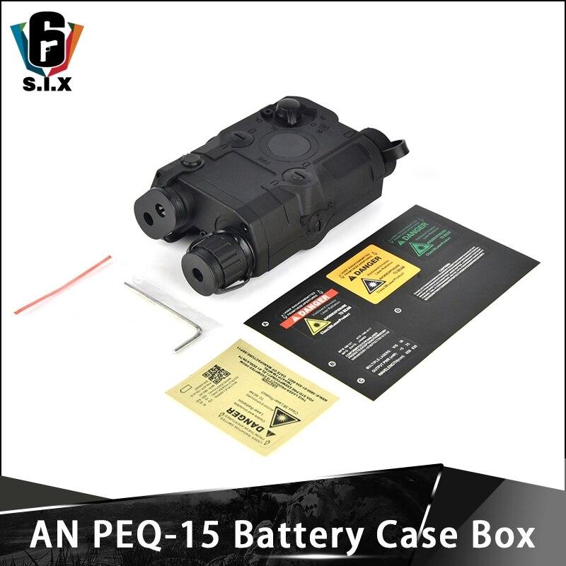 Estuche de batería táctico Airsoft AN PEQ-15 sin función PEQ 15 caja de batería simulada para riel Picatinny