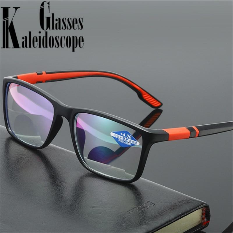 Vintage TR90 Reading Glasses Women Men Anti Blue Light Presbyopia Eyeglasses Bifocal Near far Hyperopia Eyewear +1.5 2.0 2.5 3.0