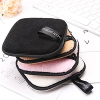 reusable bamboo makeup remover pads washable cleansing facial cotton microfiber cloth pads make up removal pads tool