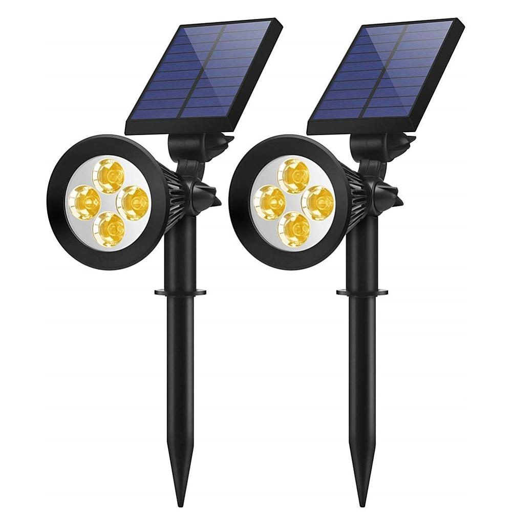 Solar Light Outdoor Angle Adjustable LED Lighting Wall Mounted Lamp Waterproof Lawn Garden Light for Yard Path Spotlights
