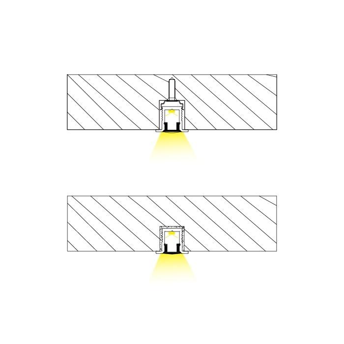 aluminum alloy ceiling recessed led light cabinet led light