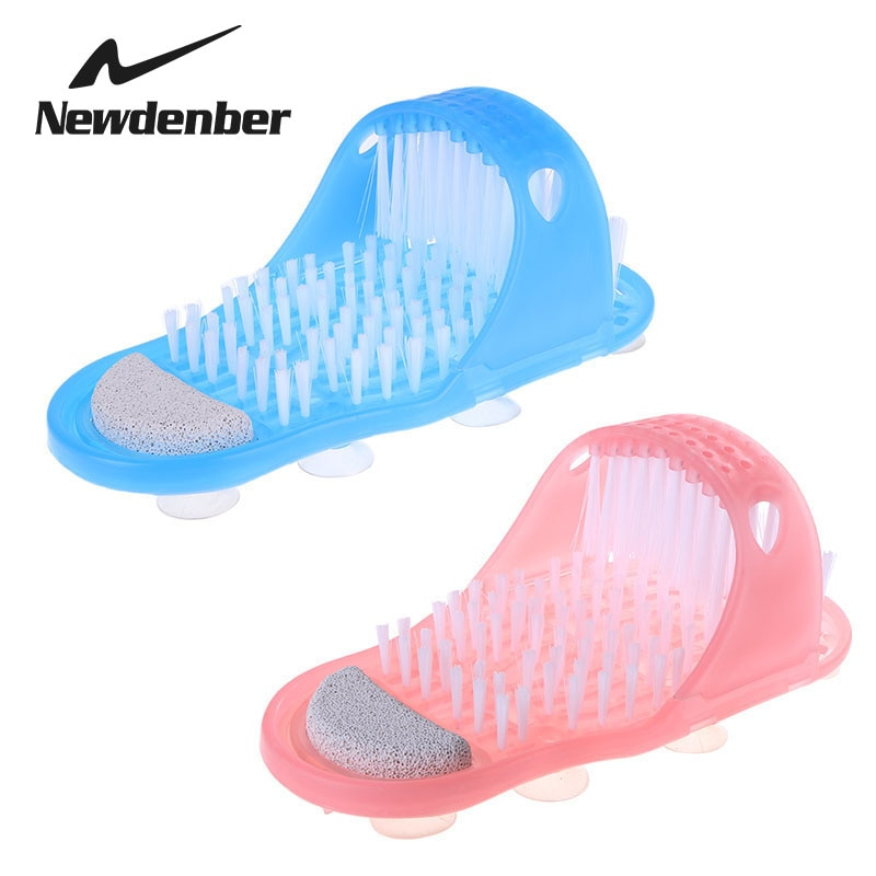 Plastic Bath Shoe Massager Slippers for Feet Pumice Stone Foot Scrubber Shower Brush Bathroom Products Foot Care Cleaning