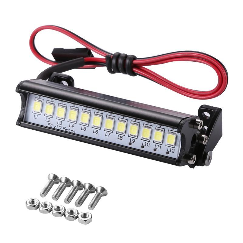 Universal 55mm 12 LED luz desde el techo del camión protección del medio ambiente y durabilidad para 1/10 RC modelo de coche accesorios