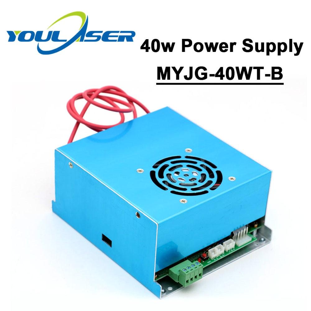 Fuente de alimentación láser CO2 40W 110V 220V para máquina de corte de grabado láser de tubo MYJG 40WT-B