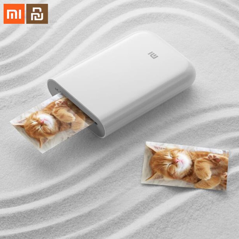 Original xiaomi Mijia printer 300dpi portable photo mini pocket DIY sharing 500mAh photo printer cooperation with Mijia smart