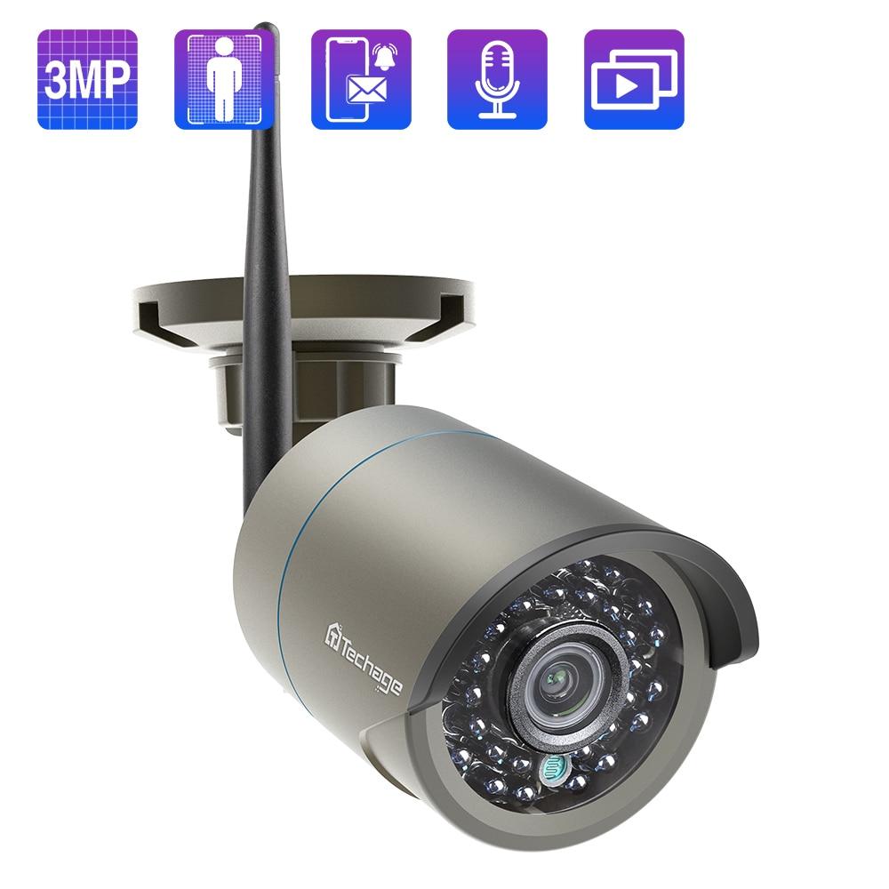Techage 3MP كاميرا IP لاسلكية eseecity اتجاهين الصوت Ai الإنسان كشف واي فاي كاميرا للأمن نظام الكاميرا مقاوم للماء P2P
