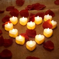 led candle light high quality flameless flashing festival wedding birthday love shape candle lamps bulb atmosphere props