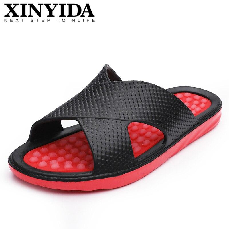 Zapatillas Multicolor de verano para hombre, sandalias respirables informales, zapatos de playa a la moda, zapatos de baño para hombre, talla 39-49