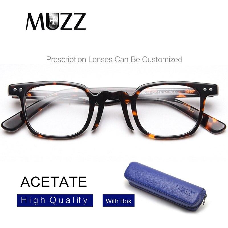 Классические квадратные очки в оправе, мужские ацетатные ретро оптические очки, женские очки в оправе при близорукости, УФ, фирменный дизай...