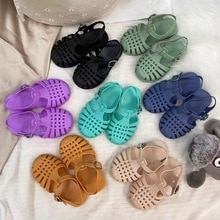 Summer Children Sandals Baby Girls Toddler Soft Non-slip Princess Shoes Kids Candy Jelly Beach Shoes