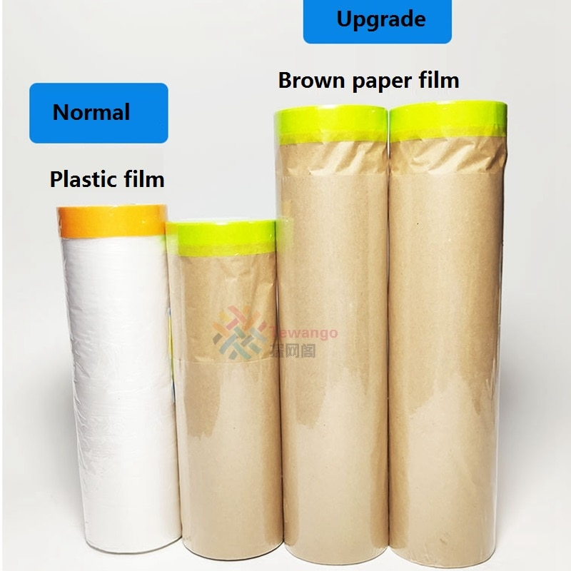 New Material Paint Protect Cover Spray Paint Masking Paper Plastic Kraft Paper Film Barrier Car Reno