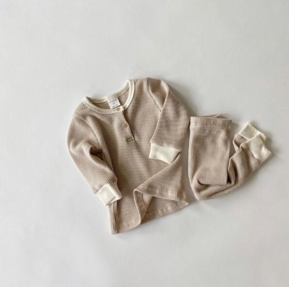 2020 Japón y Corea del Sur primavera y otoño de manga larga prenda superior + Pantalones de dos piezas ropa de niño