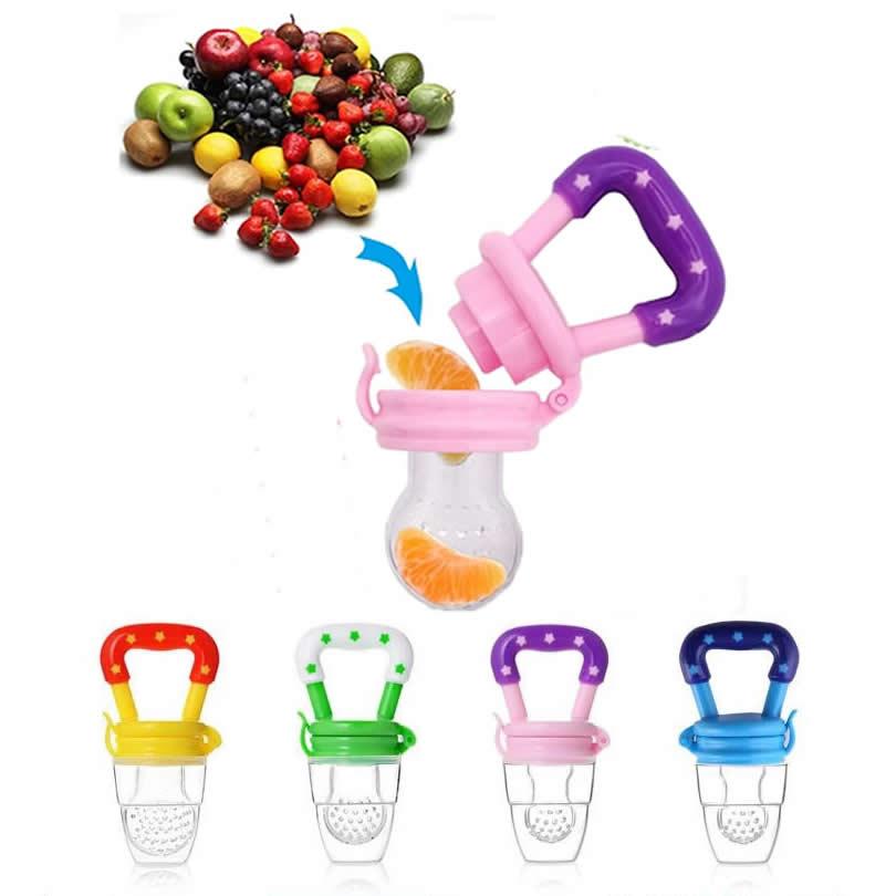 New Fresh Fruit Food Kids Nipple Feeding Safe Milk Feeder for Baby Pacifier Bottles Nipple Teat Nibbler Silicone Baby Bottle