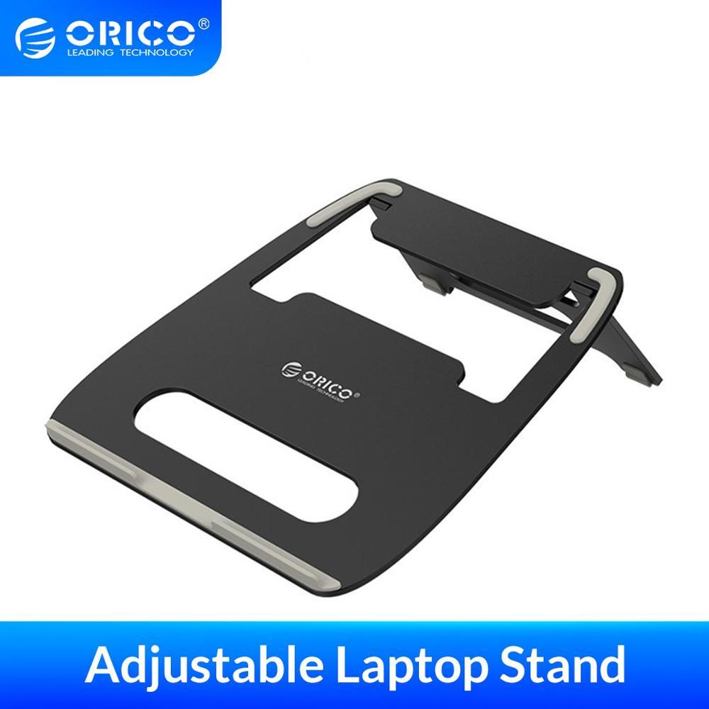 ORICO soporte ajustable de aleación de aluminio para ordenador portátil, escritorio, ergonómico, portátil, TV, cama, portátil, bandeja, PC, tableta, soporte de escritorio para Notebook