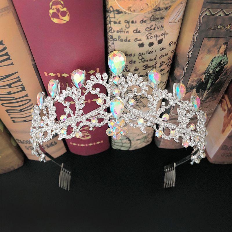 Cor de cristal do vintage rainha real rei tiaras e coroas men/women pageant prom diadem enfeites cabelo casamento jóias cabelo