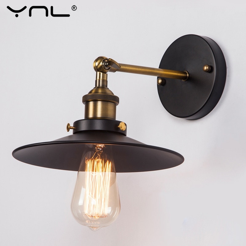 Vintage Industrial Sconce Wall Lights Fixture E27 110V-220V Black Color Indoor Retro Wall Lamp For Living Room Bar Bedroom Light wood iron wall lamps vintage sconce wall light fixture e27 220v bedside retro lamp industrial decor dining room bedroom light