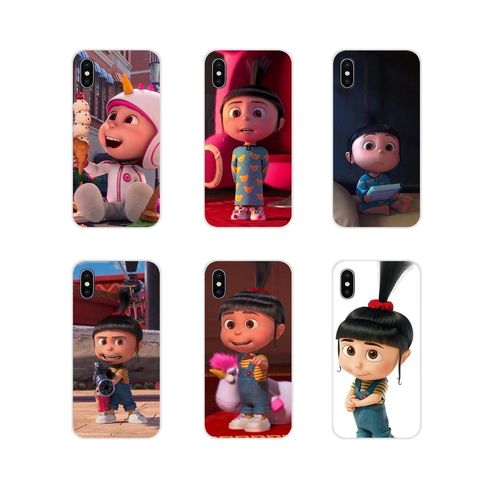 Para Apple iPhone X XR XS 11Pro MAX 4S 5S 5C SE 6 6 S 7 7 Plus ipod touch 5 6 fundas para teléfono móvil Minion My Unicorn Agnés