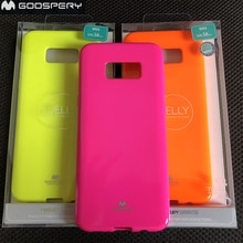 Pour Samsung Galaxy S8 Plus S8 + étui gel Fluorescent Original Mercury véritable étui brillant brillant brillant