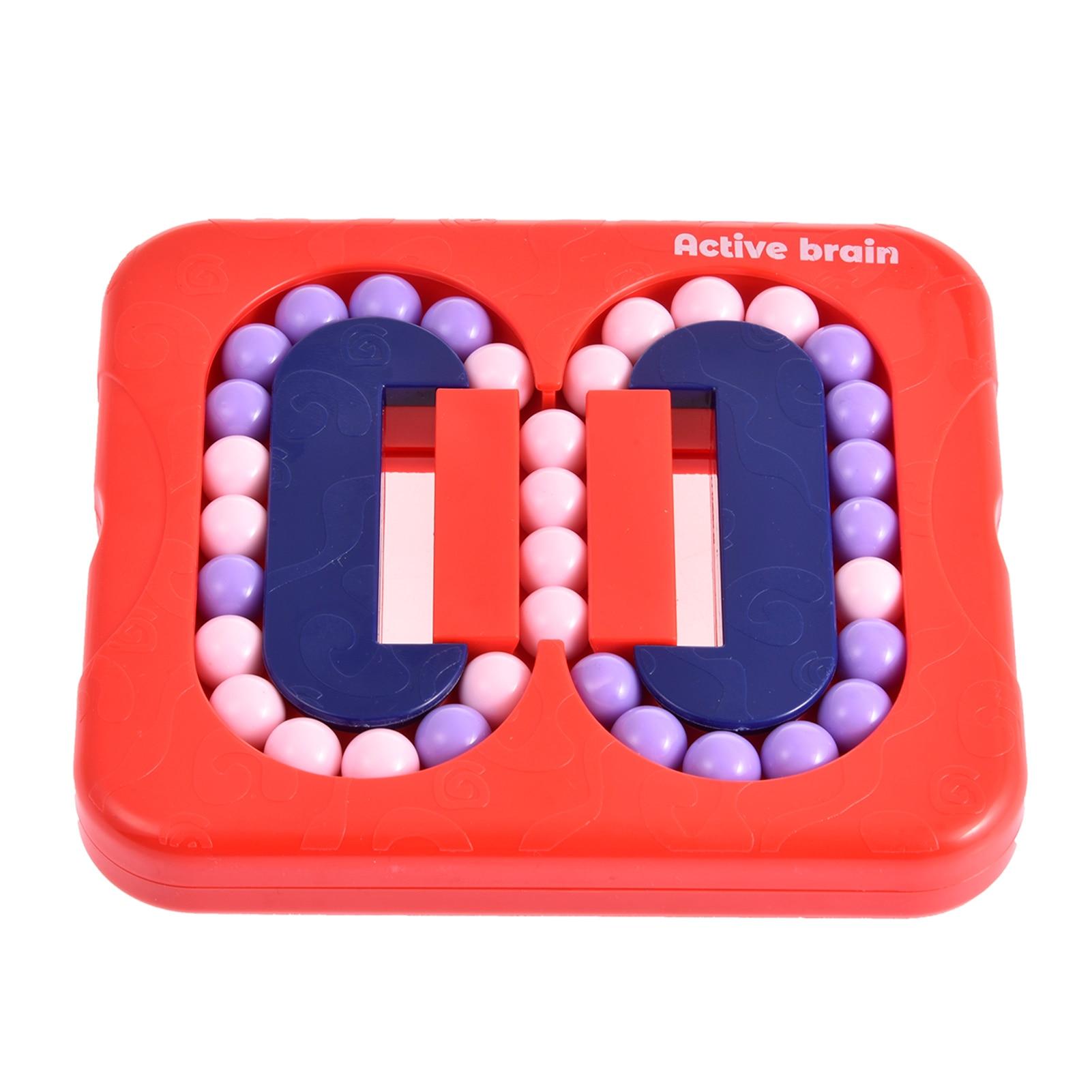 Fidget Toys Flat Rolling Beads Game Maze Mechanism Box Magic Bean Prevent Alzheimer's Brain Burning Anti-Stress Toy For kids enlarge
